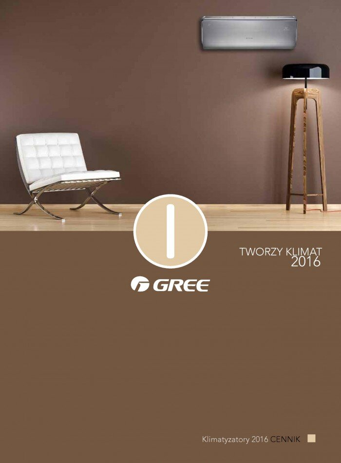 cennik klimatyzatorów Gree 2016 - 1 strona