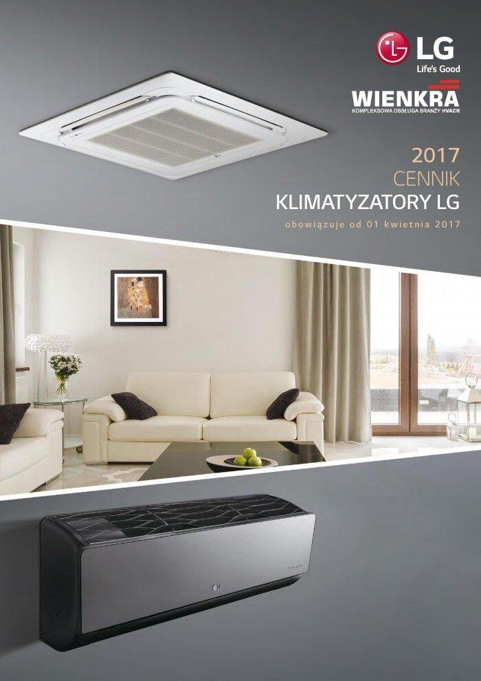 1a. cennik klimatyzatorów Lg 2017 - 1 strona